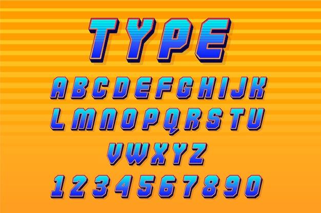 3d-komische alfabetthema