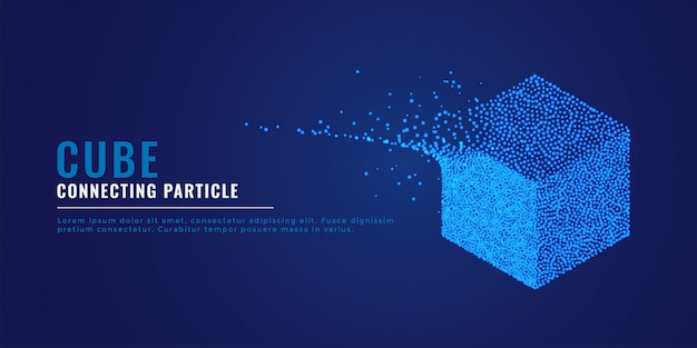 3d kubus deeltjes systeem achtergrond