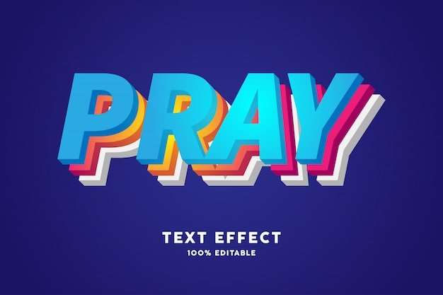 3d laag gradiënt kleurrijk teksteffect