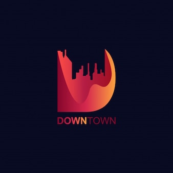 3d letter d-logo moderne gradiënten stijl