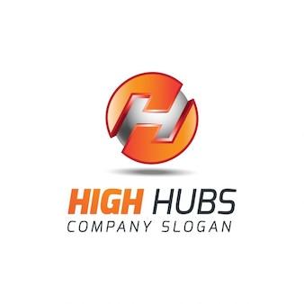 3d letter h logo
