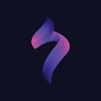 3d letter j-logo moderne stijlverlopen