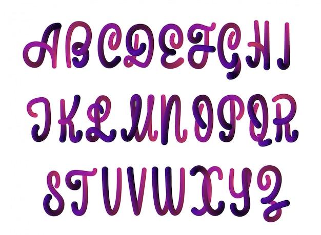 3d-lettertype gemaakt door de blender.