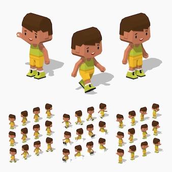 3d lowpoly isometrische jongen