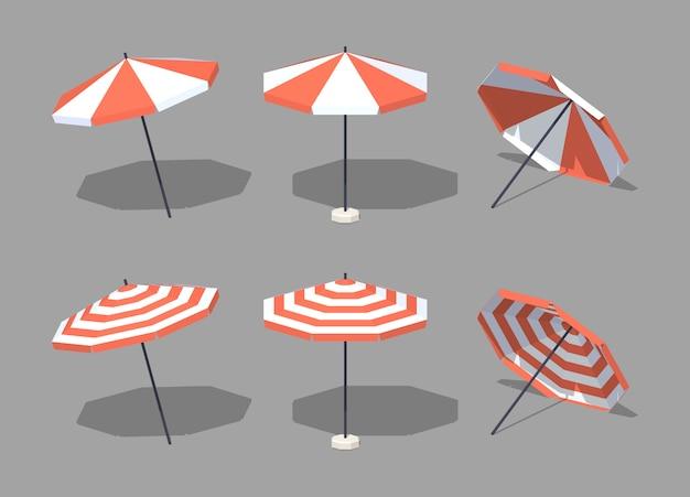 3d lowpoly isometrische parasols