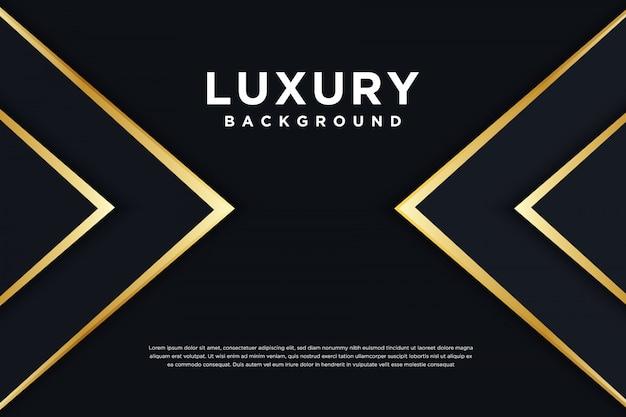 3d luxe zwarte gouden achtergrond