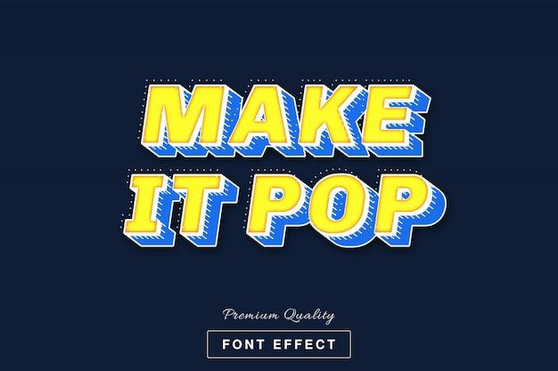 3d maak het pop-lettertype-effect
