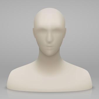 3d mannequin hoofd