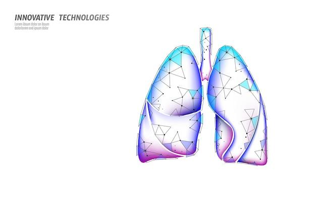 3d menselijke longen geneeskunde microscopisch onderzoek