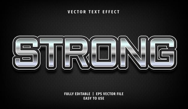 3d metallic sterk teksteffect, bewerkbare tekststijl