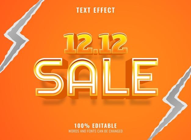 3d modern goudgeel verkoopbannersjabloon bewerkbaar teksteffect