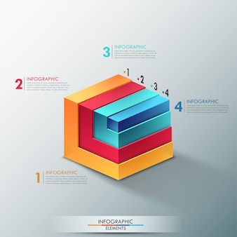3d moderne infographics opties banner