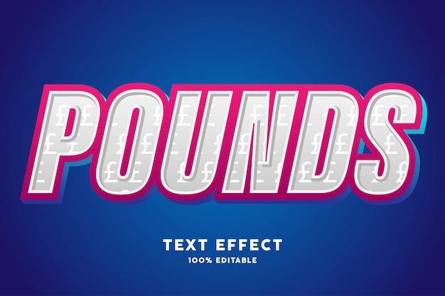 3d moderne stijl met pond teken patroon tekst effect