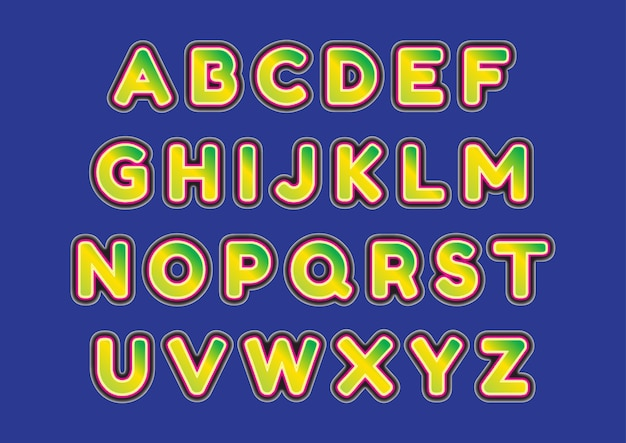 3d modieuze alfabetten in hoofdletters