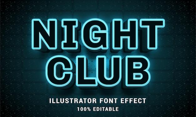 3d-nachtclub - gemakkelijk bewerkbaar teksteffect