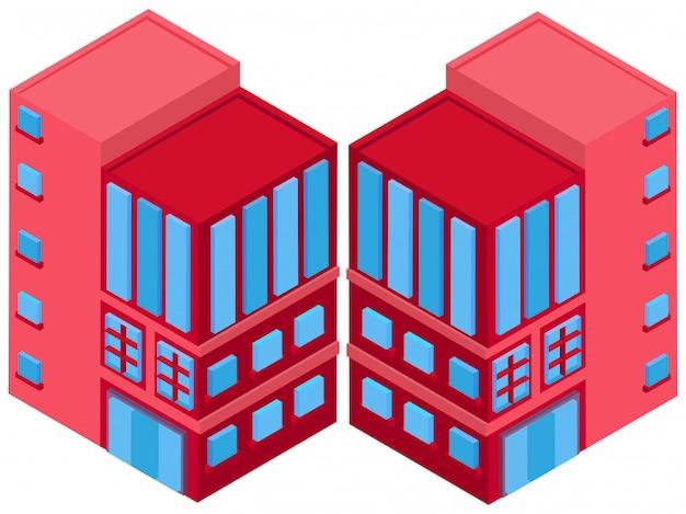 3d-ontwerp voor groot gebouw