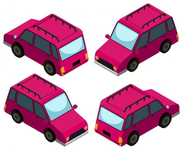 3d-ontwerp voor roze auto's
