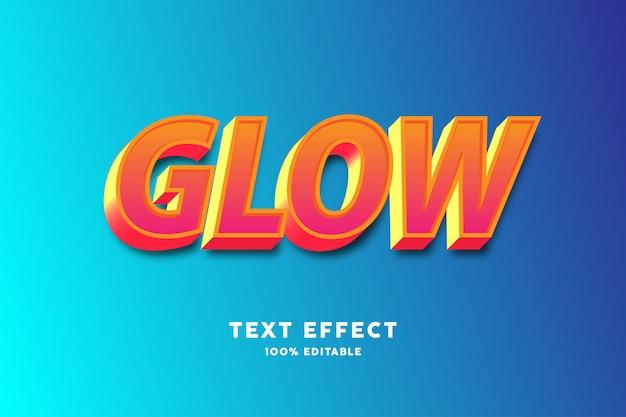 3d oranje en rood teksteffect