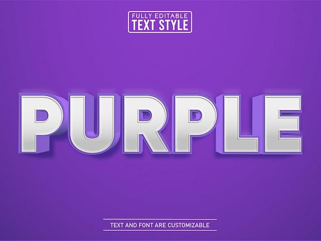 3d paars modern elegant teksteffect