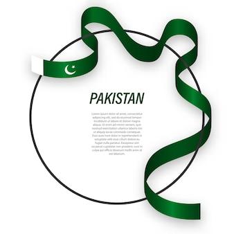 3d pakistan met nationale vlag.