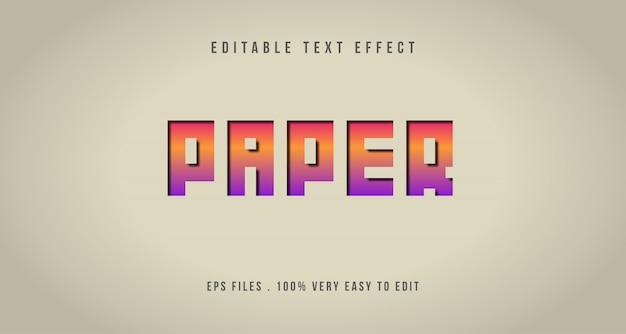 3d papercut teksteffect, bewerkbare tekst