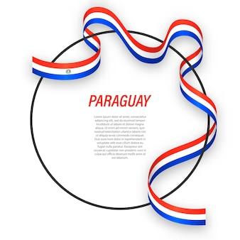 3d paraguay met nationale vlag.