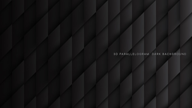 3d parallelogrammen conceptuele zwarte abstracte achtergrond
