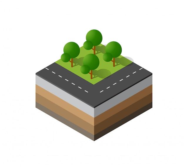 3d-pictogram ecologische natuurlijke