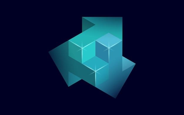 3d-pijlen brainstormen over het verschillende concept van manieroplossingen