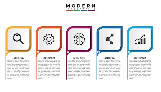 3d platte visualisatie van bedrijfsgegevens