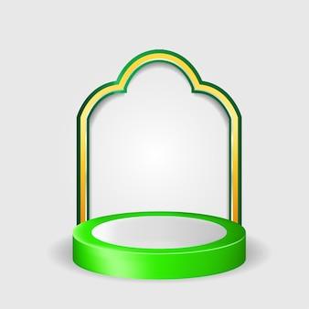 3d podium islamitisch premium