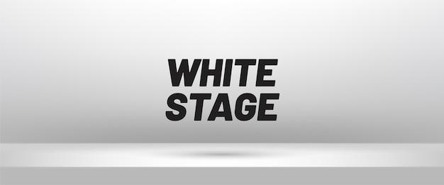 3d-podium. witte lege studioruimte voor productvertoning. showroom shoot render.