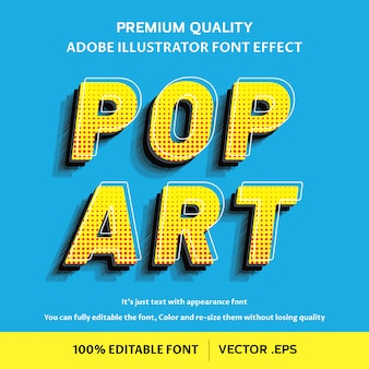 3d pop-art bewerkbaar lettertype-effect