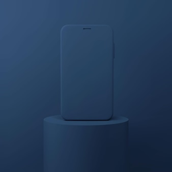 3d-presentatie van mobiele telefoons