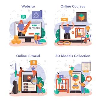 3d-printer online service of platformset. digitale ontwerper tekenen
