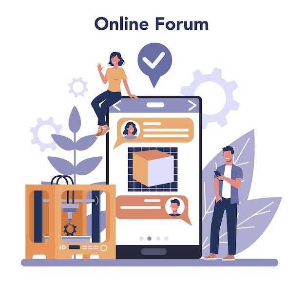 3d-printtechnologie online service of platform