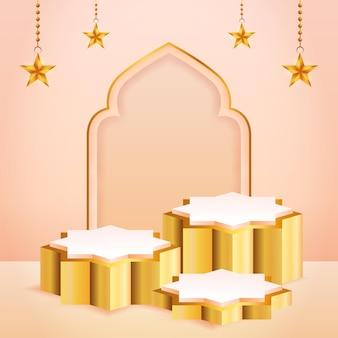 3d-productvertoning met islamitisch thema