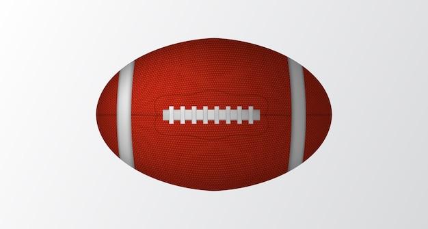 3d-realistische basis van amerikaans voetbal of rugby ovale balsport met witte achtergrond geïsoleerd
