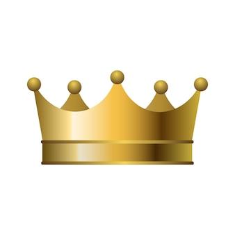 3d-realistische gouden kroon. vector illustratie