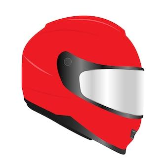 3d-realistische motor racehelmen met glazen vizier