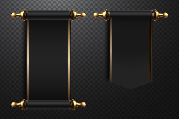 3d-realistische scrollt illustratie op transparante achtergrond