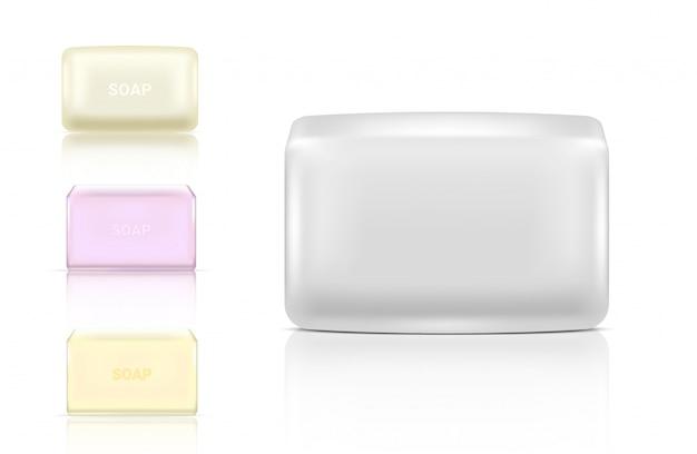3d realistische soap bar cosmetische verpakking paper wrap of plastic pack