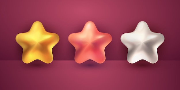 3d-realistische sterrenverzameling voor ramadan kareem en eid mubarak islamitisch ontwerpelement