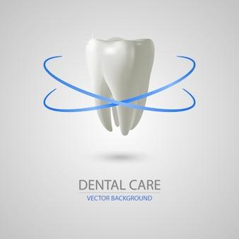3d-realistische tandheelkundige zorg achtergrond
