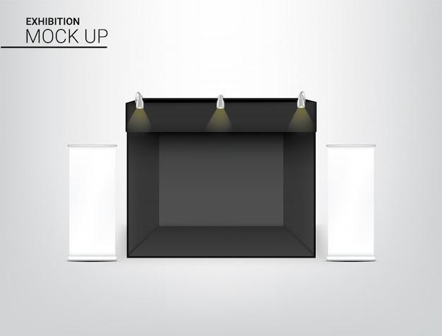 3d-realistische tentweergave pop-stand voor shop