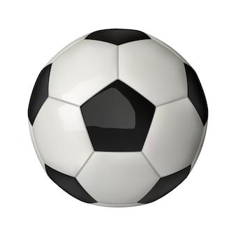 3d-realistische voetbal pictogram, voetbal geïsoleerd