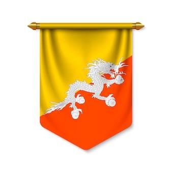 3d-realistische wimpel met vlag