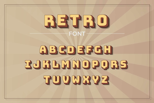 3d-retro alfabet pack