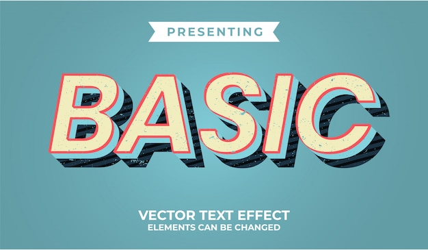 3d retro bewerkbaar teksteffect met grungetextuur