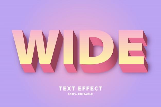 3d retro kleurverloop teksteffect